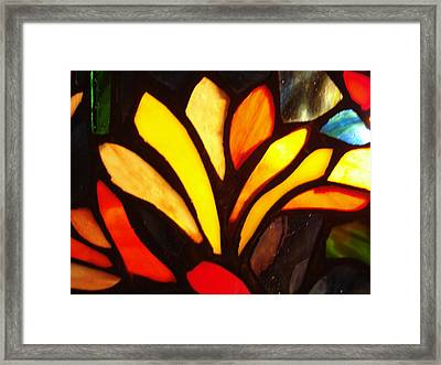 Stained Glass Six Framed Print