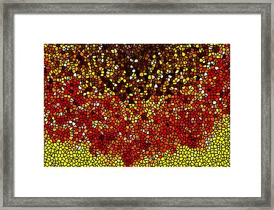 Stained Glass Sunflower Closeup Framed Print by Lanjee Chee