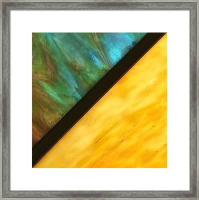 Stained Glass Framed Print by Tom Druin