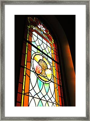 Stained Glass Wheat Framed Print by Stephanie Grooms