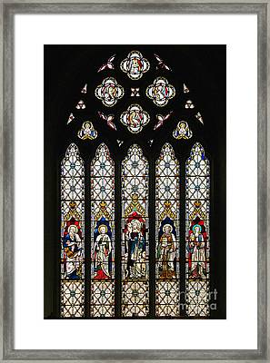 Stained-glass Window 1 Framed Print by Susie Peek