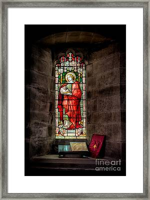 Stained Glass Window 2 Framed Print by Adrian Evans