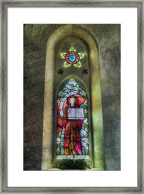 Stained Glass Window Art Framed Print by Ian Mitchell