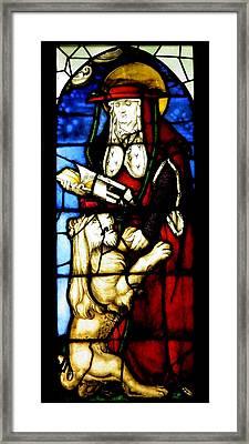 Stained Glass Window C Freiburg Im Breisgau Framed Print by Leone M Jennarelli