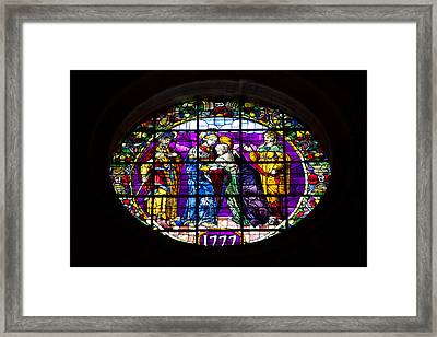 Stained Glass Window In The Seville Cathedral Framed Print