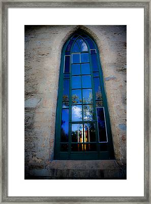 Stained Glass Window In Window Framed Print