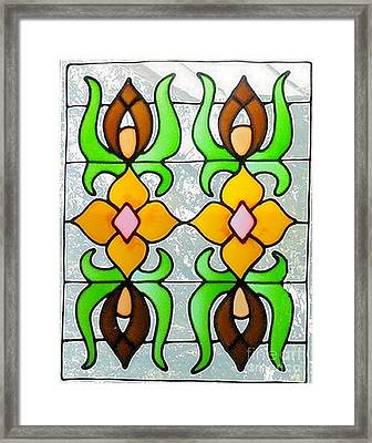 Framed Print featuring the photograph Stained Glass Window by Janette Boyd