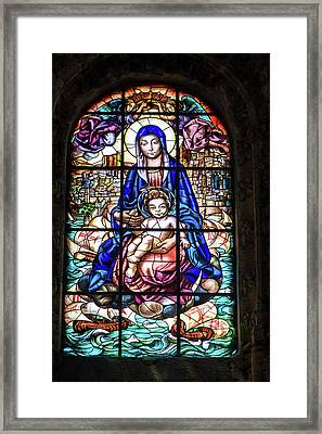 Stained Glass Window, Jeronimos Framed Print by Jim Engelbrecht