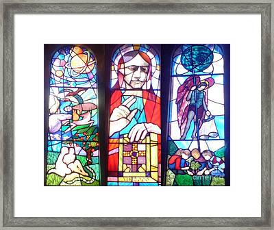 Framed Print featuring the photograph Stained Glass Window by John Williams