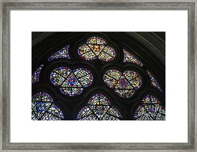 Stained Glass Window Framed Print by Patricia Hofmeester