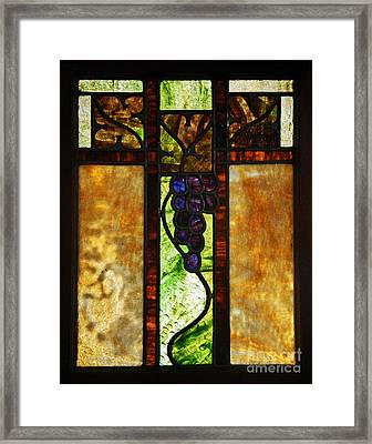 Stained Glass Window Framed Print by Valerie Garner