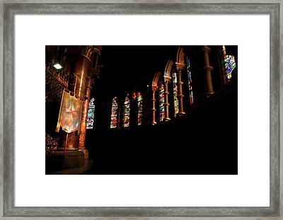 Stained Glass Windows Near The Altar,st Framed Print by Panoramic Images