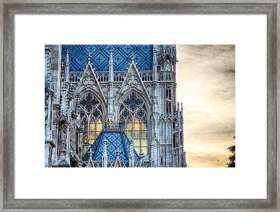 Stained Glass Windows Of Votive Church Framed Print by Viacheslav Savitskiy