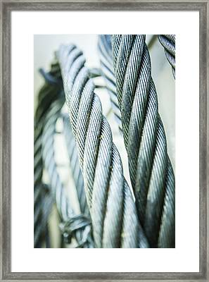 Stainless Steel Ropes Framed Print by Gustoimages