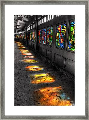 Stains In The Path Framed Print