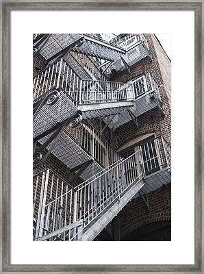 Stair Way Framed Print by Gretchen Lally