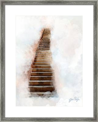 Stair Way To Heaven Framed Print