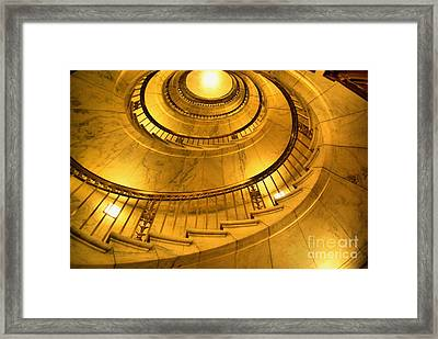 Stair Way To Justice Framed Print by John S