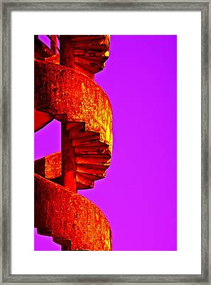 Framed Print featuring the photograph Staircase Abstract by Dennis Cox WorldViews