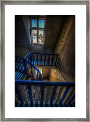 Staircase Blues  Framed Print by Nathan Wright