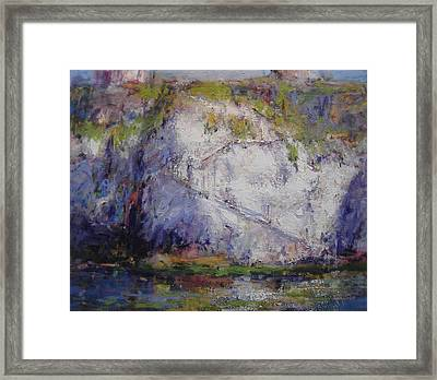Staircase Down To The Beach Framed Print by R W Goetting