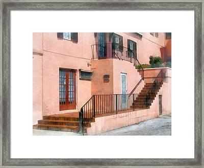 Staircase In Bermuda Framed Print by Susan Savad
