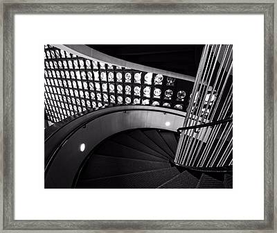 Staircase In Black And White Framed Print by Dan Sproul