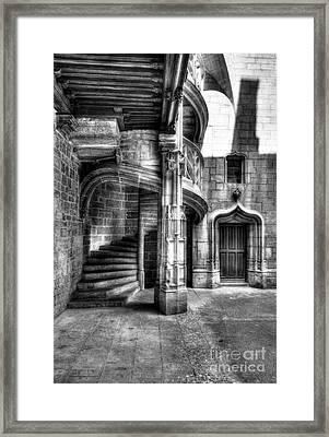 Staircase In Dijon Bw Framed Print