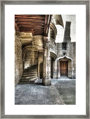 Staircase In Dijon Framed Print by Mel Steinhauer