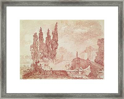 Staircase In The Gardens Of The Villa Deste, Tivoli Framed Print