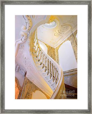 Framed Print featuring the photograph Staircase In Wood by Michael Edwards