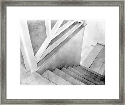 Staircase, Mexico City, C.1924 Framed Print