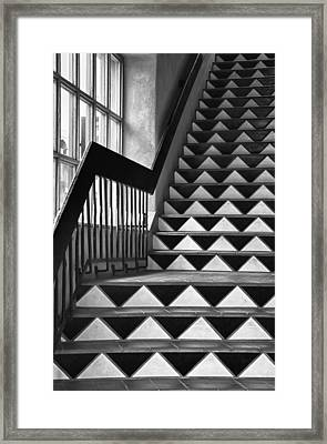 Framed Print featuring the photograph Staircase Santa Fe New Mexico by Ron White