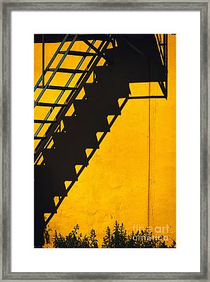Framed Print featuring the photograph Staircase Shadow by Silvia Ganora