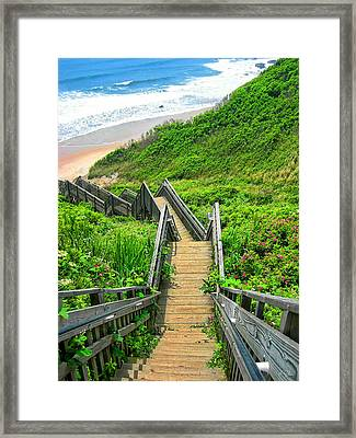 Staircase To Gem Framed Print by Lourry Legarde