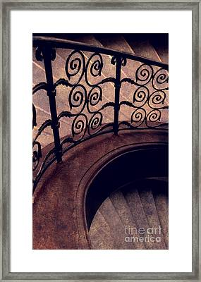 Staircase With Curls Framed Print by Jaroslaw Blaminsky