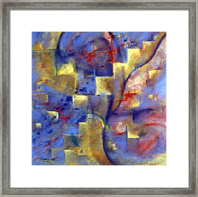 Framed Print featuring the pastel Staircases by Susan Will