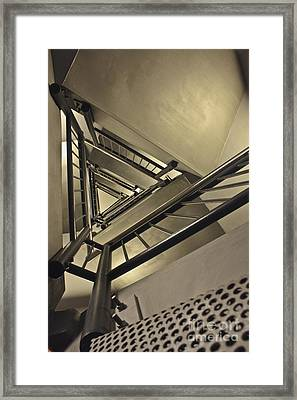 Framed Print featuring the photograph Stairing Up The Spinnaker Tower by Terri Waters