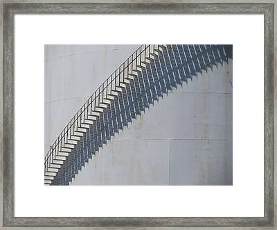 Stairs And Shadows 3 Framed Print by Anita Burgermeister
