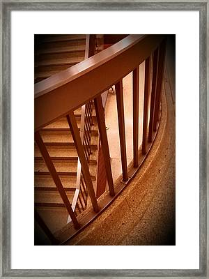 Stairs Around Framed Print