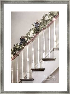 Stairs At Christmas Framed Print by Margie Hurwich