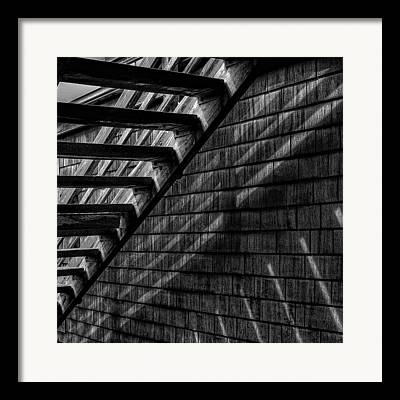 Wooden Steps Framed Prints