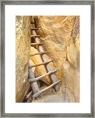 Framed Print featuring the photograph Stairs From The Canyon by Ross Henton