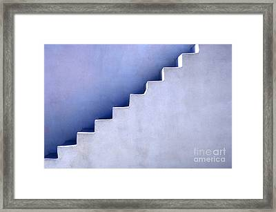 Stairs In Santorini Framed Print by Bob Christopher