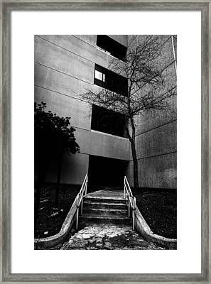 Stairs Into Darkness Framed Print by Kim M Smith