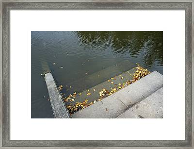 Stairs Leading Into Water Framed Print