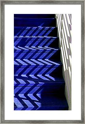 Stairs Of Blue Framed Print