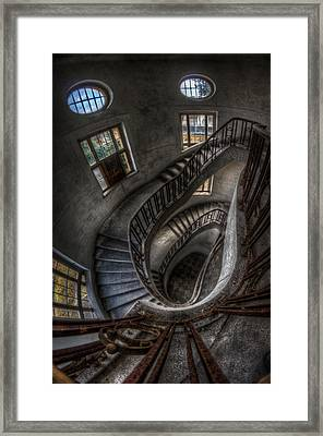 Stairs Of Majesty . Framed Print by Nathan Wright