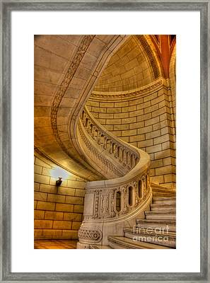 Stairs Of Mythical Proportion Framed Print by David Bearden