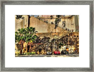 Stairs On The Rocks Framed Print